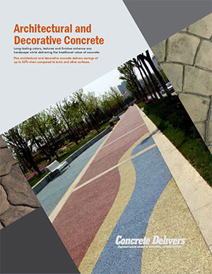 Arch. & Decor. Concr. Promo Brochures  (Pkg. of 100)